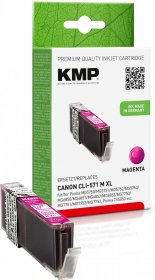Tusz KMP C107MX (CLI-571M XL), 645 stron, 11ml, magenta (purpurowy)