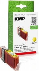 Tusz KMP C107YX (CLI-571Y XL), 715 stron, 11ml, yellow (żółty)