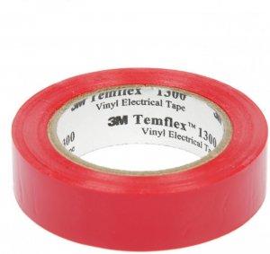 Taśma izolacyjna 3M Temflex 1300, PVC, DE272962791, 19mm x 20m, czerwony