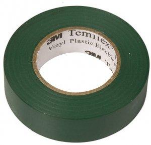Taśma izolacyjna 3M Temflex 1300, PVC, DE272962817, 19mm x 20m, zielony