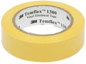 Taśma izolacyjna 3M Temflex 1300, PVC, DE272962809, 19mm x 20m, żółty