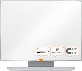 Tablica suchościeralno-magnetyczna Nobo Nano Clean, stal lakierowana, w ramie aluminiowej, 60x44.2cm, biały