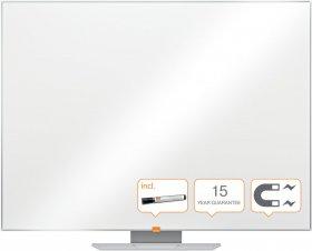 Tablica suchościeralno-magnetyczna Nobo Nano Clean, stal lakierowana, w ramie aluminiowej, 60x45cm, biały