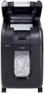 Niszczarka automatyczna Rexel Auto+ 200X, ścinek 4x40mm, 200 kartek, DIN P-4, czarny