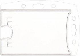 Holder do identyfikatorów Argo 2K clear, na dwie karty, 90×55 mm, 50 sztuk, przezroczysty