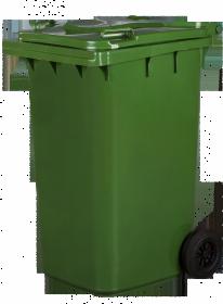 Pojemnik na odpady, 240l, zielony