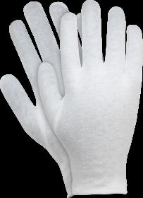 Rękawice tkaninowe Reis, RWKB W, bawełna, rozmiar M, biały