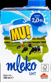 Mleko Wart-Milk UHT MU!, 2%, 0.5l