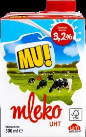 Mleko Wart-Milk UHT MU!, 3.2%, 0.5l