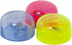 Temperówka z pojemnikiem Kum, plastik, 1 otwór, mix kolorów