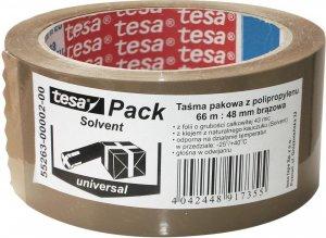 Taśma pakowa tesa Standard Solvent, 48mmx66m, brązowy