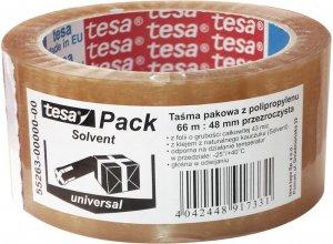 Taśma pakowa tesa Standard Solvent, 48mmx66m, przezroczysty
