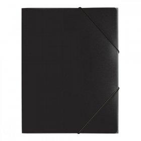 Teczka plastikowa z gumką Pagna, A4, 3 skrzydłowa, czarny