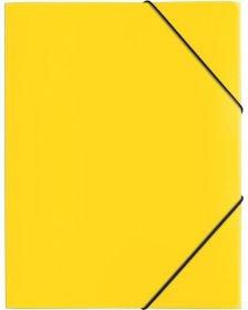 Teczka plastikowa z gumką Pagna, A4, 3 skrzydłowa, żółty