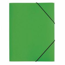 Teczka plastikowa z gumką Pagna, A4, 3 skrzydłowa, zielony