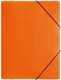 Teczka plastikowa z gumką Pagna, A4, 3 skrzydłowa, pomarańczowy