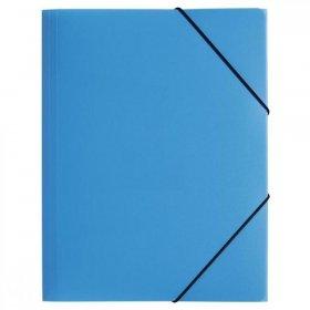Teczka plastikowa z gumką Pagna, A4, 3 skrzydłowa, jasny niebieski