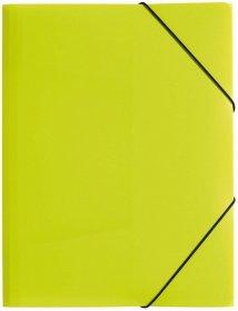 Teczka plastikowa z gumką Pagna, A4, 3 skrzydłowa, zielony pastelowy