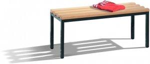 Ławka ubraniowa C+P, drewno/metal, 1000x353x420mm, jasny brąz