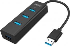 Rozgałęziacz - Hub Unitek Y-3089, 4x USB 3.0, retail, czarny