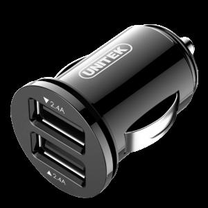Ładowarka samochodowa Unitek Y-P540, smart 2x USB 24W, czarny