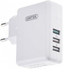 Ładowarka sieciowa Unitek 3xUSB 2.4A + QC2.0 Fast, biały