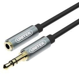 Kabel miniJack Unitek, 3.5mm, 1m, czarny