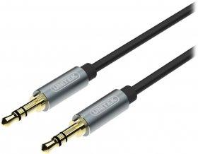 Kabel miniJack Unitek, 3.5mm, 5m, czarny