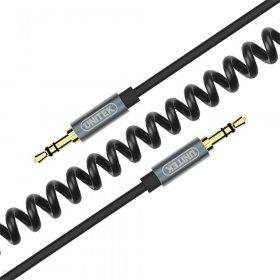 Kabel miniJack Unitek TWIST, 3.5mm - miniJack, 1.5m, czarny