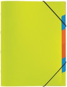 Teczka segregująca Pagna, A4, 5 przekładek, zielony