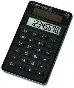 Kalkulator biurowy Citizen ECC-110 Eco, 8 cyfr, czarny