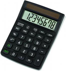 Kalkulator biurowy Citizen ECC-210 Eco, 8 cyfr, czarny