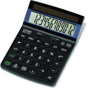 Kalkulator biurowy Citizen ECC-310 Eco, 12 cyfr, czarny