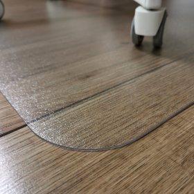 Mata podłogowa pod krzesło Leviatan, 120x90cm, prostokąt, twarda, przezroczysty