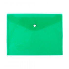 Teczka kopertowa D.Rect 5530, A4, na zatrzask, przezroczysty zielony