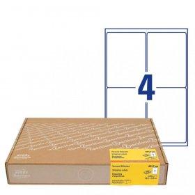 Etykiety wysyłkowe Avery Zweckform, A4, 99.1x139mm, 300 arkuszy, biały