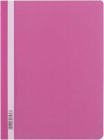Skoroszyt plastikowy bez oczek D.Rect, A4, różowy