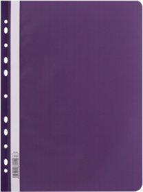 Skoroszyt plastikowy oczkowy D.Rect, A4, fioletowy