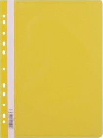 Skoroszyt plastikowy oczkowy D.Rect, A4, żółty