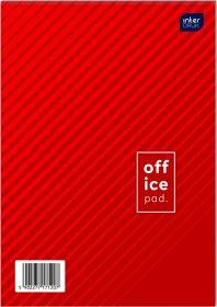 Blok biurowy w kratkę Interdruk, A6, 100 kartek, mix wzorów