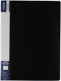 Album ofertowy Biurfol Classic, A4, 20 koszulek, czarny