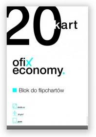 Blok do flipchartów Ofix Economy, 65x98cm, gładki, 20 kart