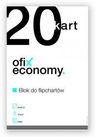 Blok do flipchartów Ofix Economy, 65x98cm, w kratkę, 20 kart