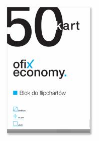 Blok do flipchartów Ofix Economy, 65x98cm, gładki, 50 kart