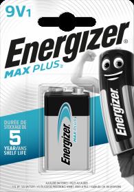 Bateria alkaliczna Energizer Max Plus, E, 9V, 6LR61, 1 sztuka