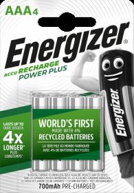 Akumulator Energizer Power Plus, AAA, HR03, 1.2V, 700mAh, 4 sztuki