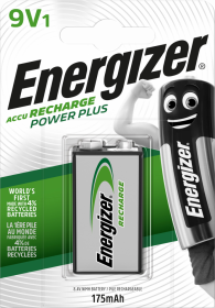 Akumulator Energizer Power Plus, E, HR22, 9V, 175mAh, 1 sztuka