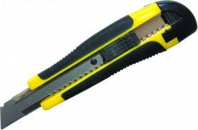 Nożyk pakowy z blokadą Donau Professional, 18mm, żółto-czarny
