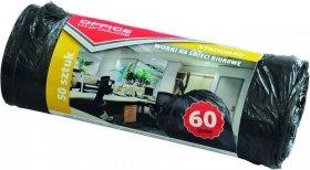 Worki na śmieci Office Products, HDPE, 60l, 58x70cm, 50 sztuk, czarny