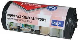 Worki na śmieci biurowe Office Products, mocne (LDPE), 120l, 69x109cm, 25 sztuk, czarny